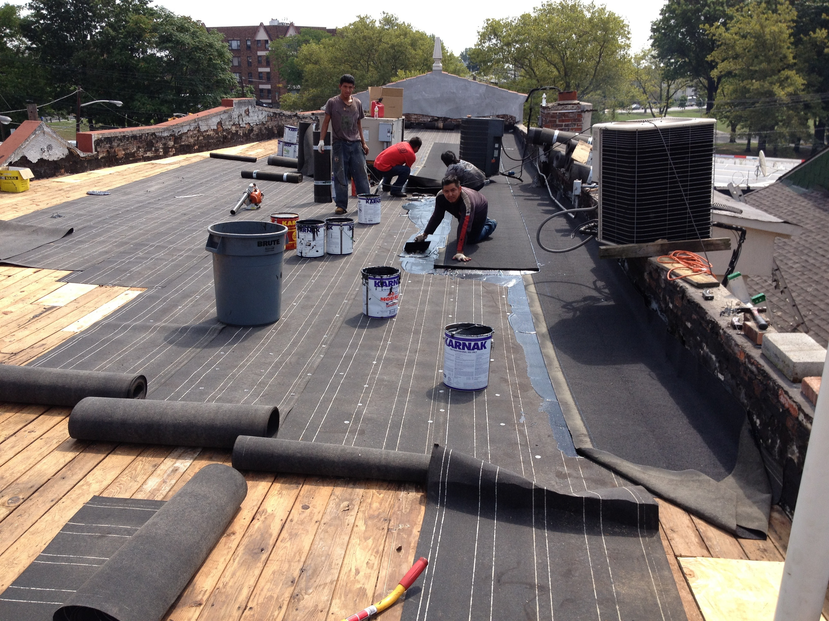 Commercial Roof Installation : Flat roof installation three brothers roofing over