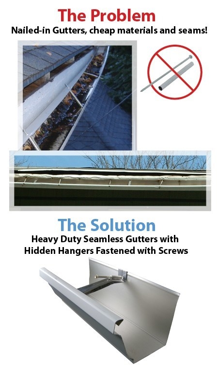 old gutter neer repair on house