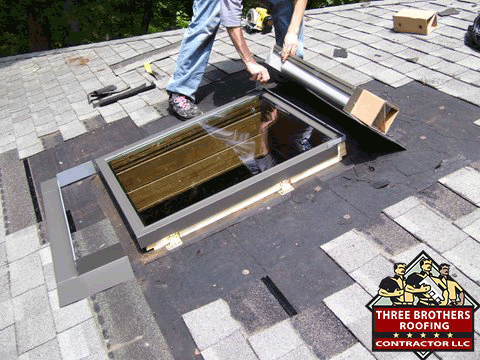 Skylight leak repair Contractors repair services local roofing repair