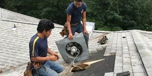 Power Roof Fan Replacement