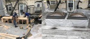 Local Flat Roof Skylight leak repair company nj