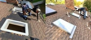 Skylight leak repair Company nj