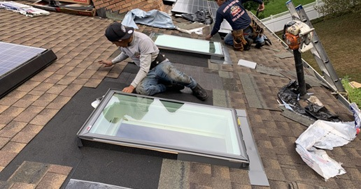 Skylight leak repair contractors NJ