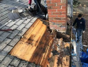 Chimney roof flashing repair specialist company Ner Me bergen county NJ