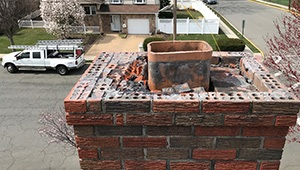 Chimney Crown Damaged Repair specialist near me Bergen County NJ