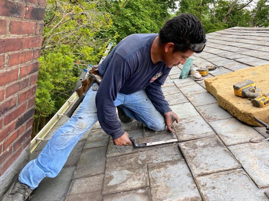 slate roof leak repair